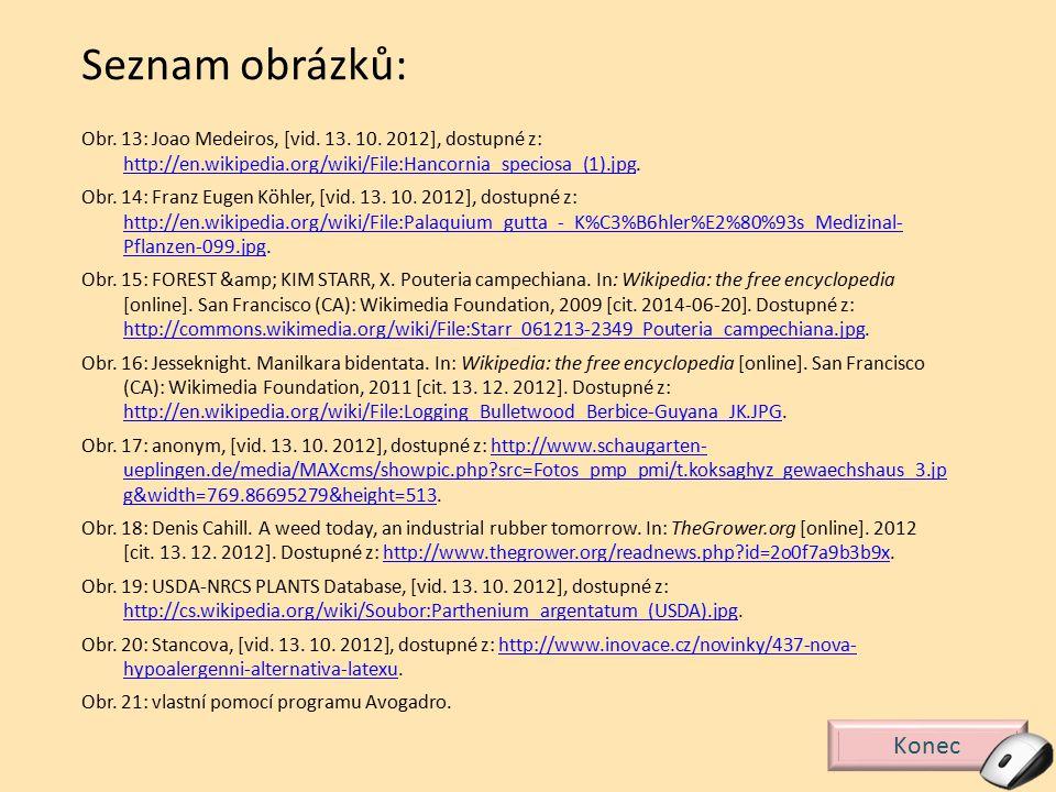 Seznam obrázků: Obr. 13: Joao Medeiros, [vid. 13. 10. 2012], dostupné z: http://en.wikipedia.org/wiki/File:Hancornia_speciosa_(1).jpg.